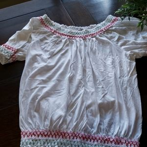 STYLE & CO peasant blouse / B3
